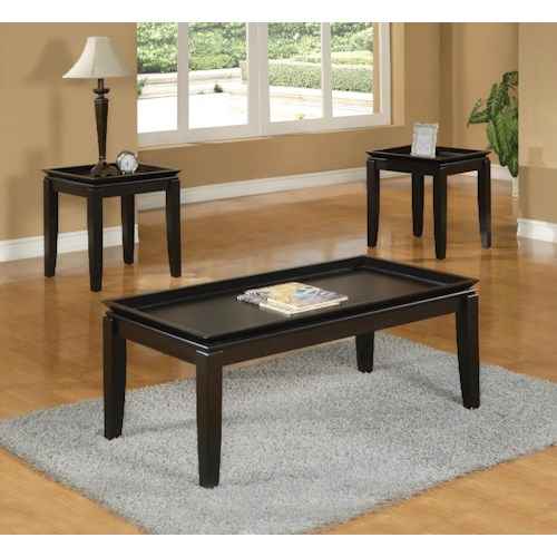 Crown Mark Calla 3 Pack Cocktail Table and End TablesSet