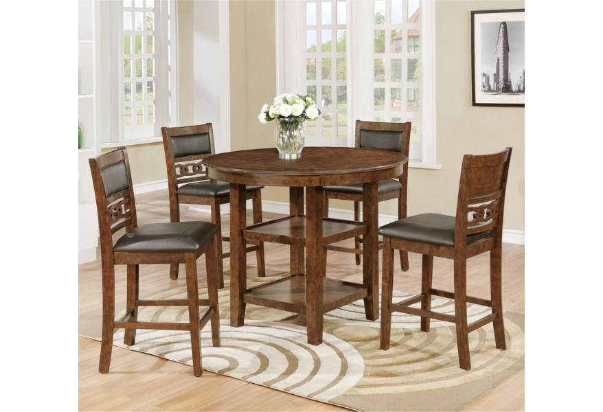 Crown Mark Cally 5 Piece Counter Height Dining Set | Wilcox ...
