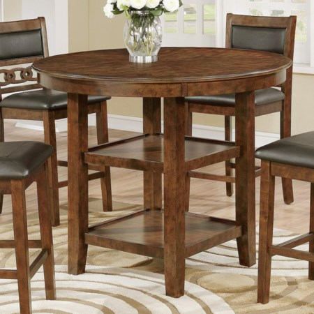 Round Counter Height Storage Table