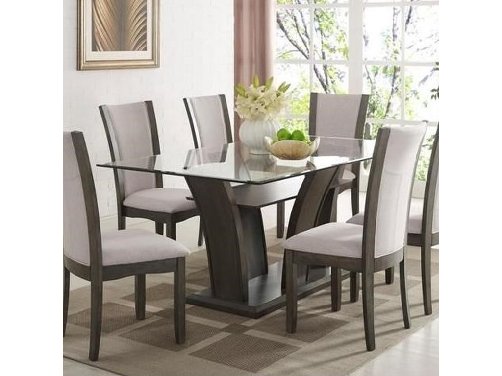 Crown Mark Camelia Greydining Table