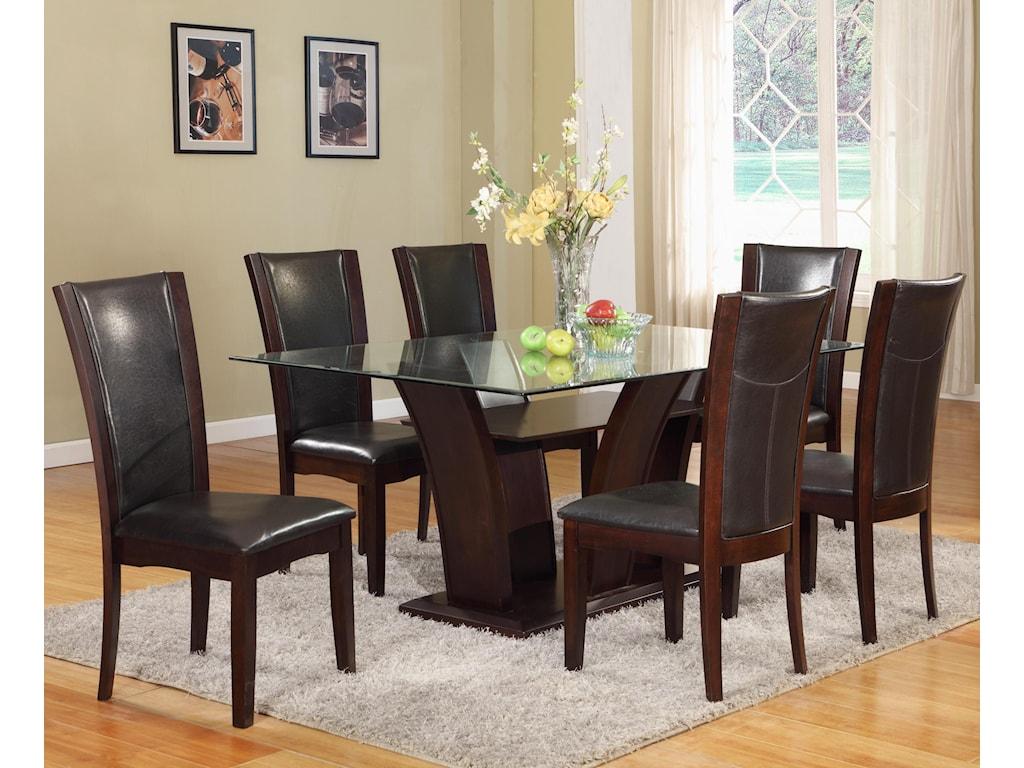 Crown Mark Camelia EspressoDining Side Chair