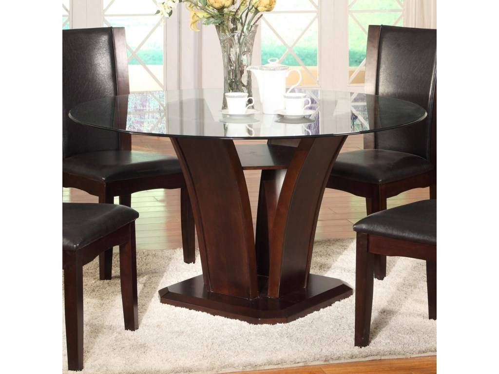 Crown Mark Camelia Espressoround Dining Table