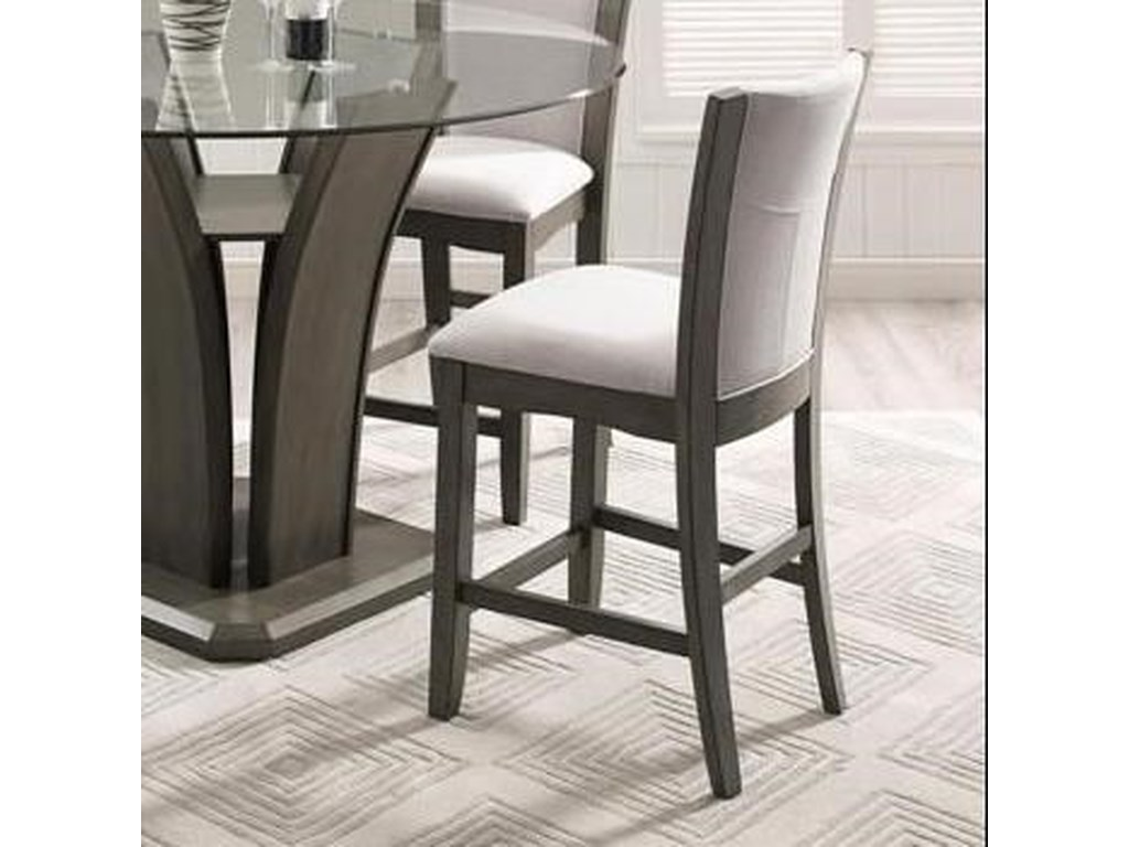 Crown Mark Camelia GreyCounter Height Stool