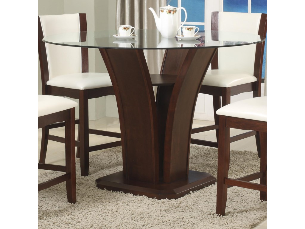 Crown Mark Camelia EspressoGlass Counter Height Table