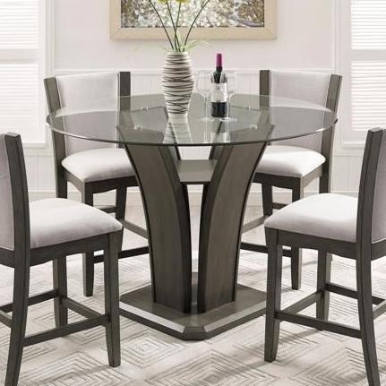 Bon Crown Mark Camelia GreyGlass Counter Height Table ...