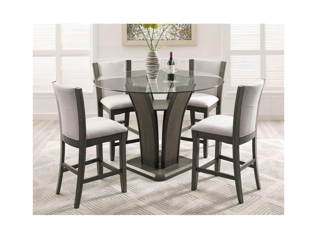Camelia Grey Gl Counter Height Table