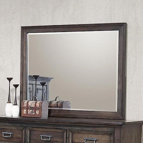 Crown Mark Campbell Dresser Mirror with Beveled Frame