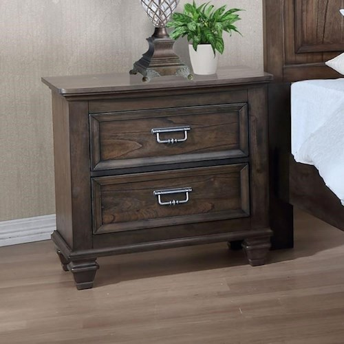 Crown Mark Campbell 2 Drawer Nightstand