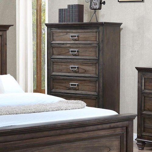 Crown Mark Campbell Traditional Chest of Drawers with Modern Finish
