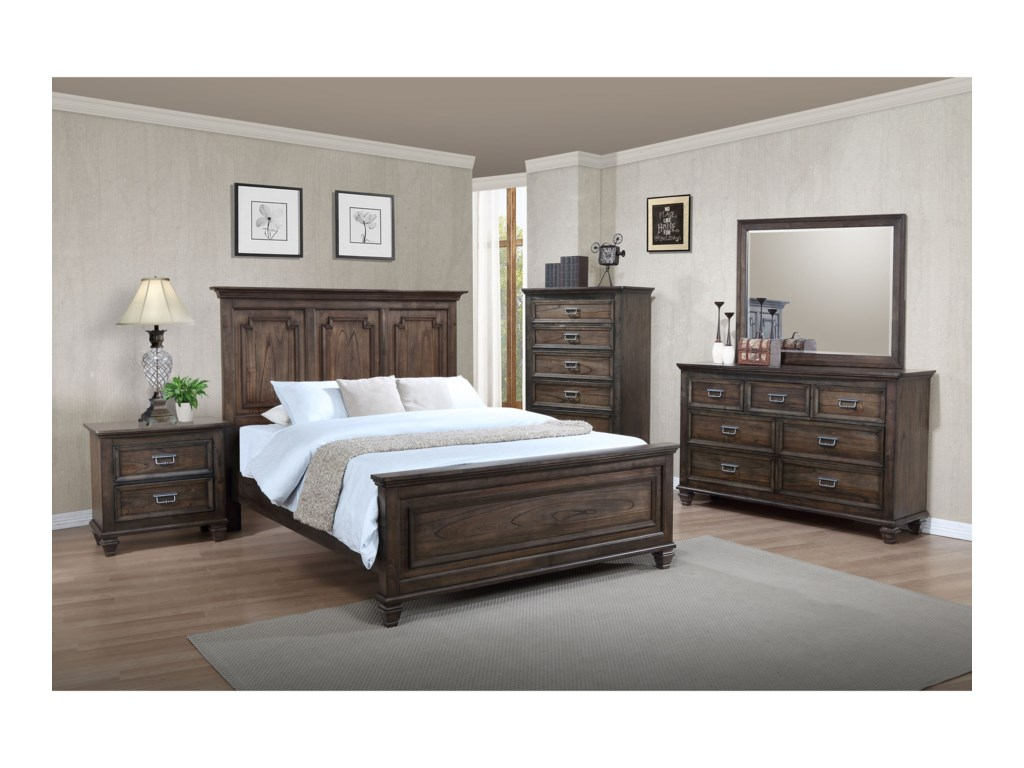 Crown Mark CampbellQueen Headboard and Footboard Bed
