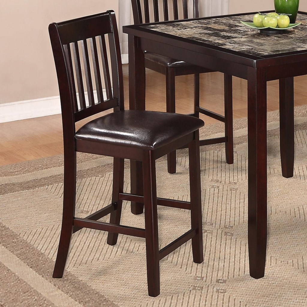 Crown Mark Cascade 5 Piece Counter Height Dinette with Faux Marble