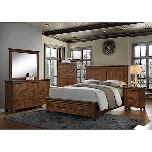 Crown Mark Cassidy Queen Bedroom Group