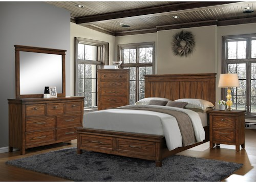 Crown Mark Cassidy Queen Bedroom Group