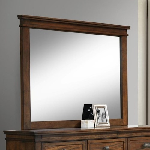 Crown Mark Cassidy Dresser Mirror with Crown Molding