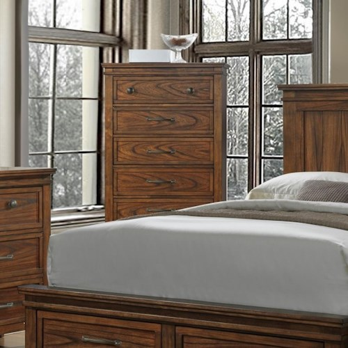 Crown Mark Cassidy Chest of Drawers with Prominent Wood Grain