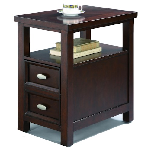 Crown Mark Chairside Tables Chairside Table with 2 Drawers