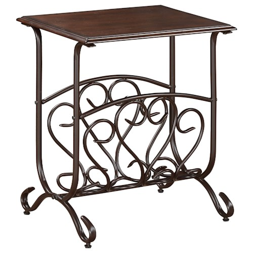 Crown Mark Chairside Tables Glenwood Chairside Table with Magazine Rack