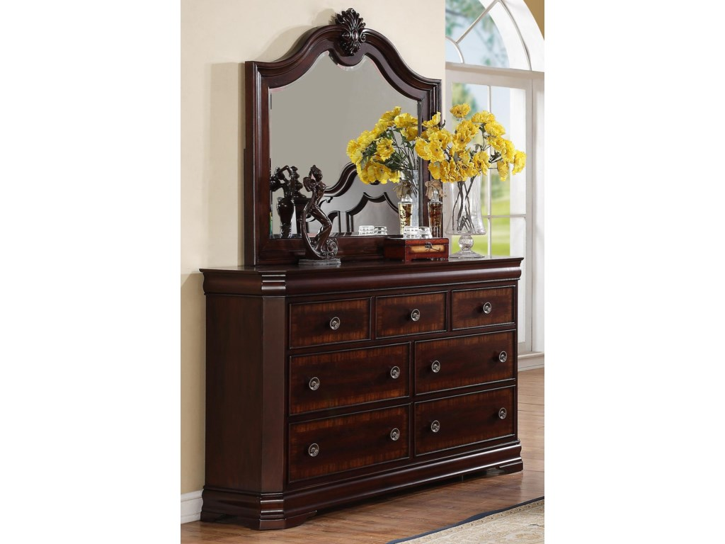 Crown Mark CharlotteDresser and Mirror Combo