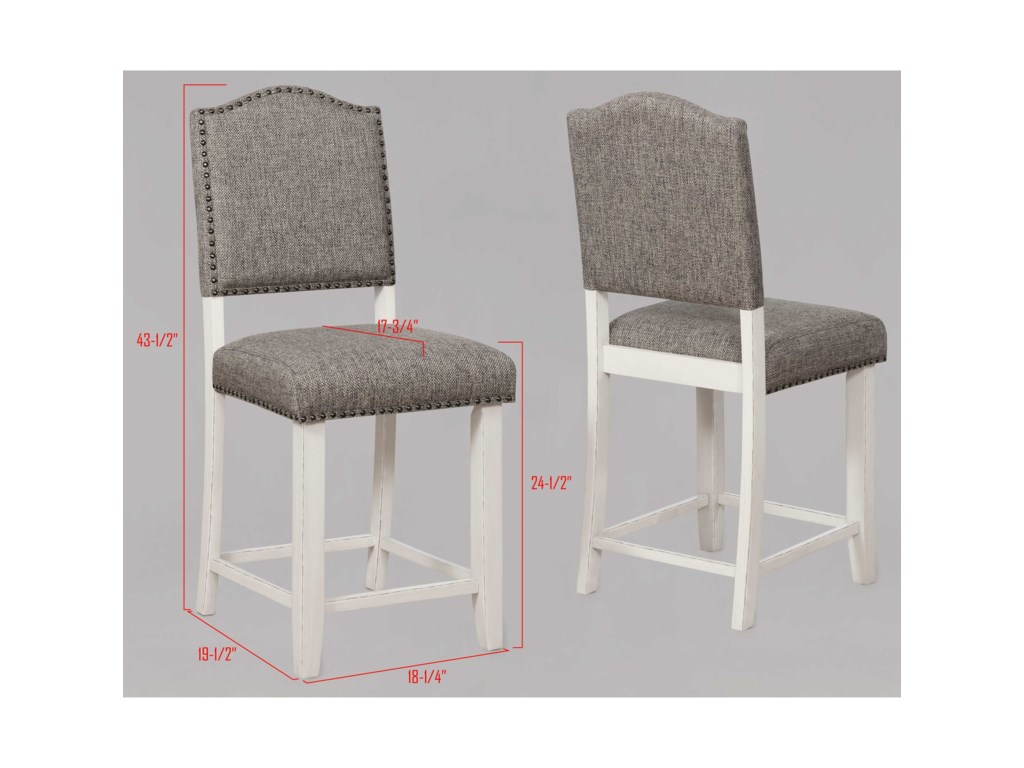 Crown Mark CloverCounter Height Chair