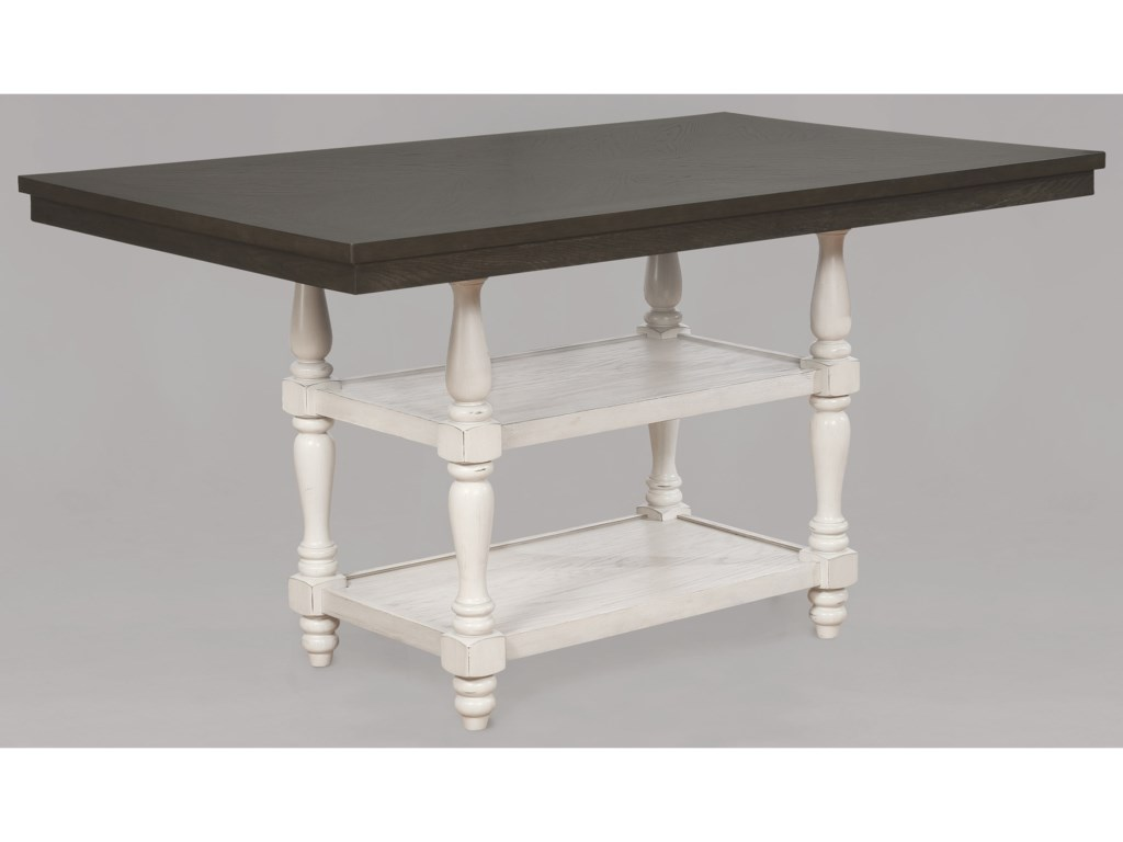 Crown Mark Clover6 Piece Counter Table and Chair/Bench Set