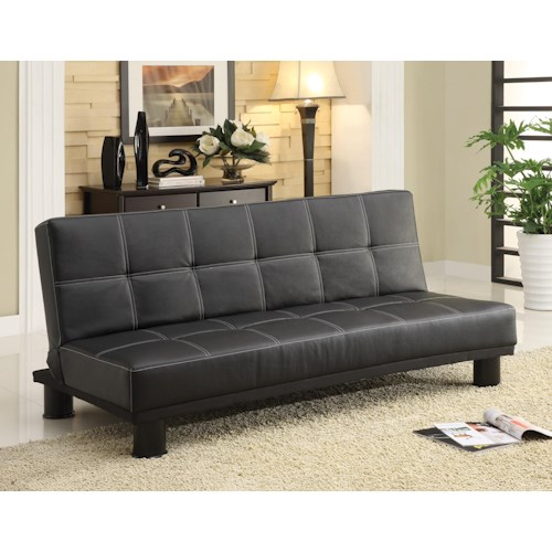 Crown Mark Collin Adjustable Sofa Bed Futon