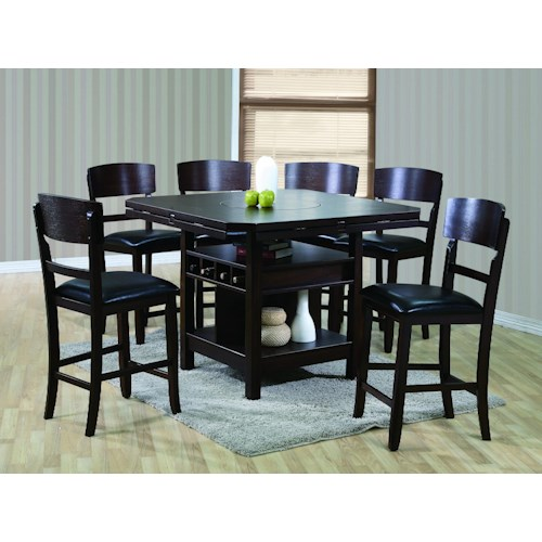 Crown Mark Conner  Contemporary 7 Piece Table and Chair Set