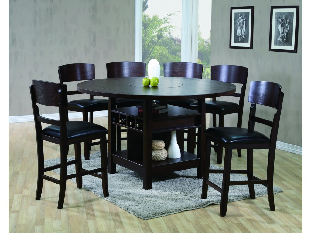 Crown Mark Conner 7 Piece Table and Chair Set