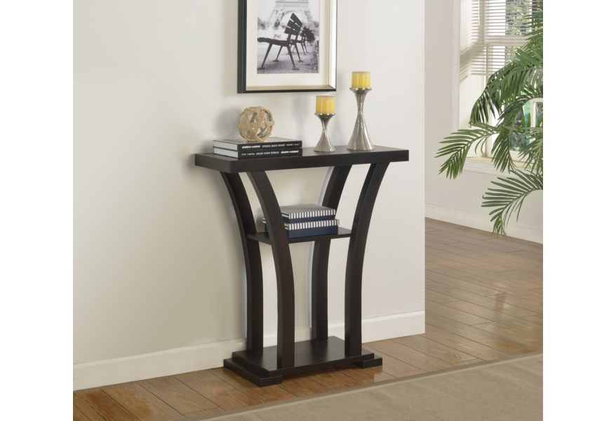 Crown Mark Console Tables Sleek Black Console Table Darvin Furniture Sofa Tables Consoles