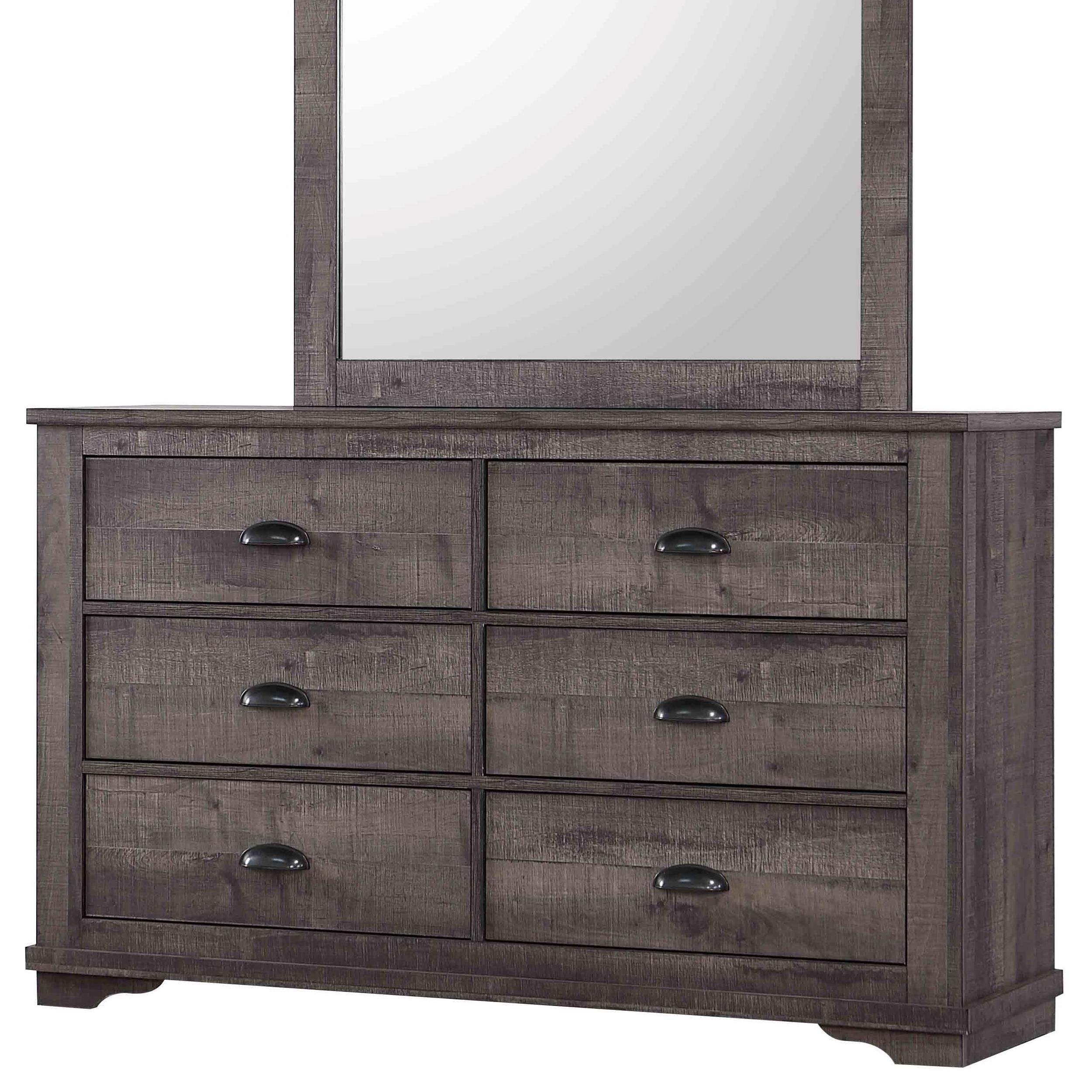Transitional 6-Drawer Dresser