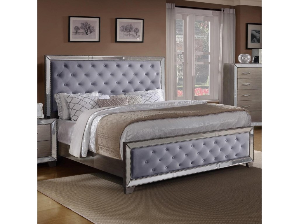 Crown Mark CosetteCalifornia King Upholstered Bed