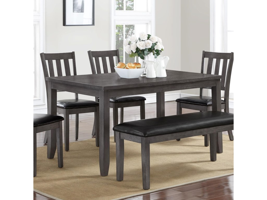 Crown mark cosgrove transitional dining table