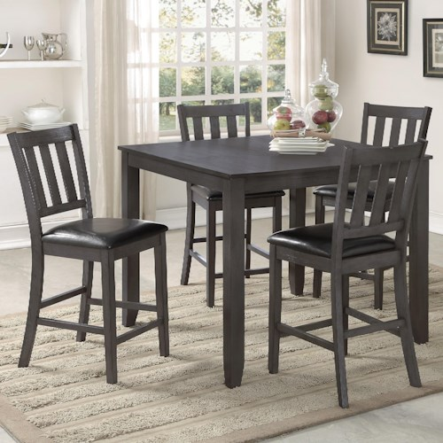 contemporary margate height counter set high dining table sets round