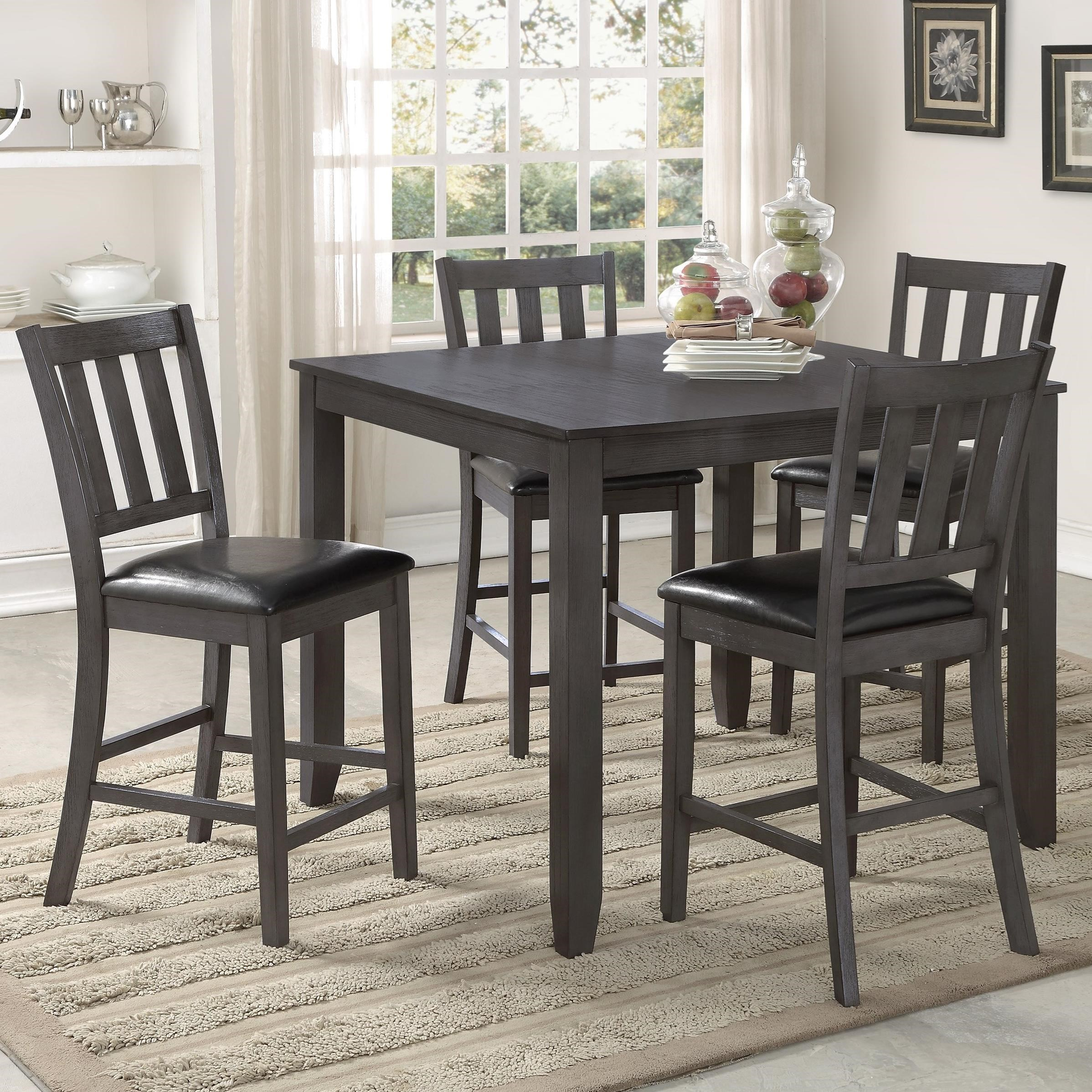 Bon Crown Mark Cosgrove Transitional Counter Height Table Set
