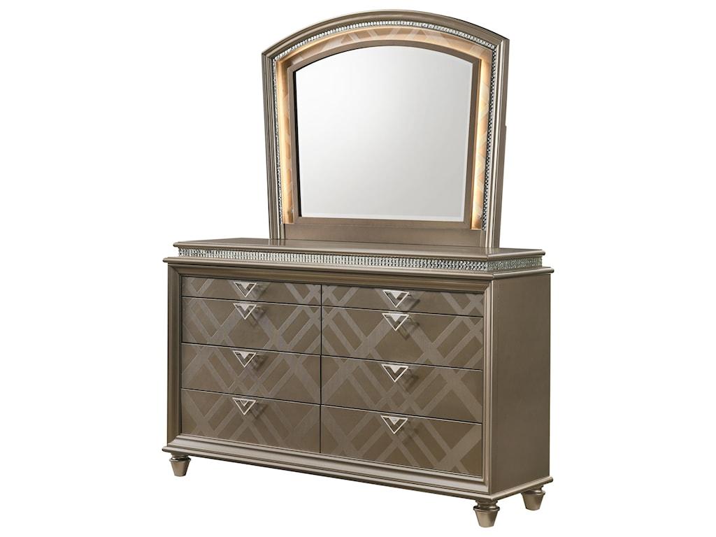 Crown Mark CristalDresser Mirror