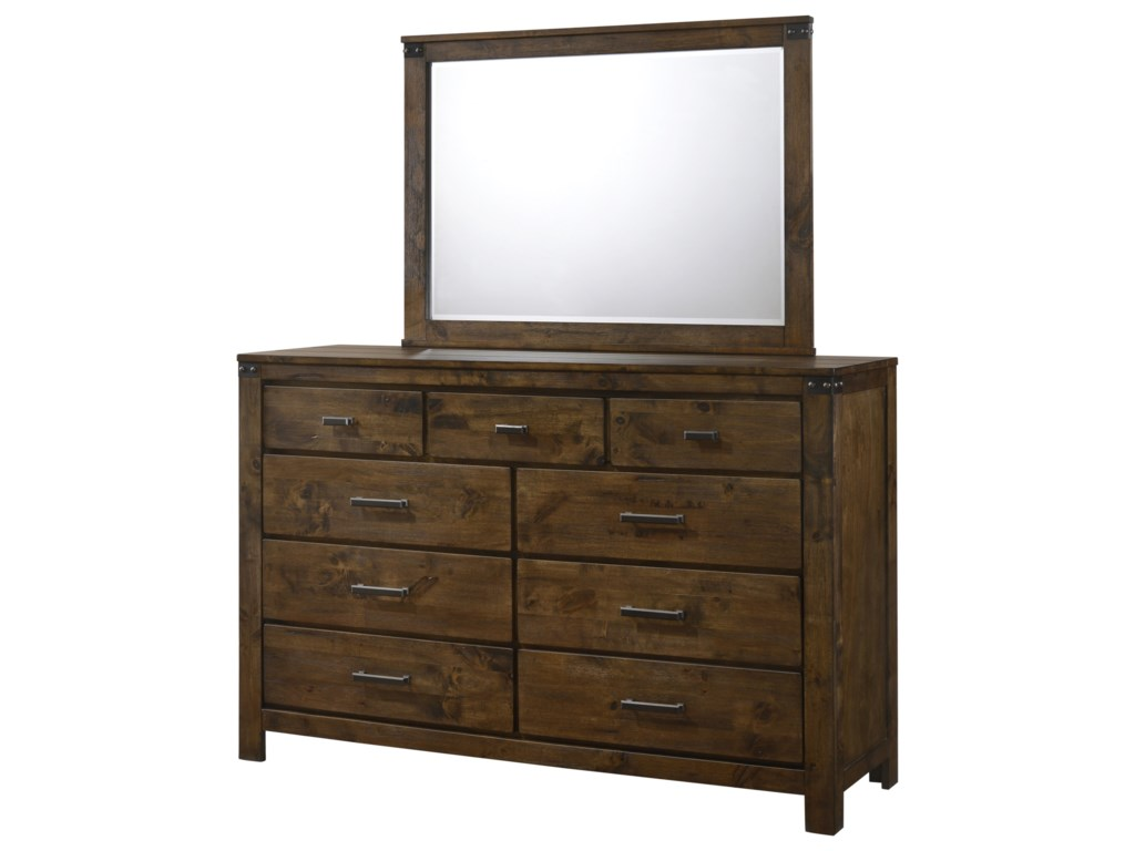 Crown Mark CurtisDresser and Mirror Combo