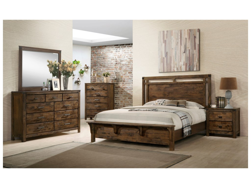 Crown Mark CurtisQueen Panel Bed
