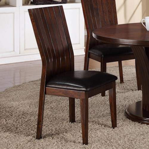Crown Mark Daria Dining Side Chair with Upholstered Seat