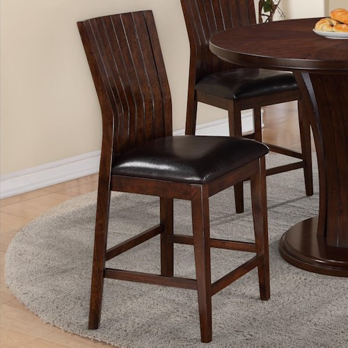 Crown Mark Daria Dining Bar Stool with Upholstered Seat