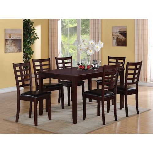 CM Darren 7-PK Dinette Set with 1 Table & 6 Chairs