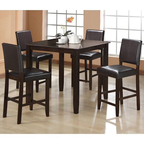 CM Derick 5 Piece Counter Height Table Set