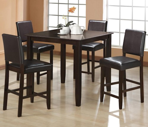 5 piece counter height table set derick by crown mark wilcox crown mark derick 5 piece counter height table set watchthetrailerfo