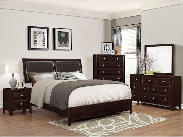 Crown Mark Farrow Queen Bedroom Group: Fayetteville, NC Bedroom Groups Store