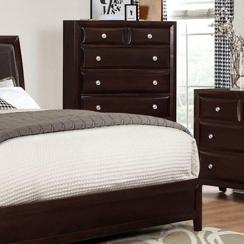 Crown Mark Donovan Chest of Drawers with Espresso Finish