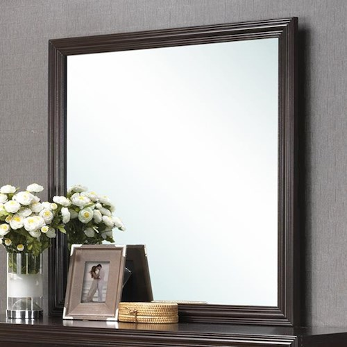 Crown Mark Elijah Transitional Mirror with Crown Molding