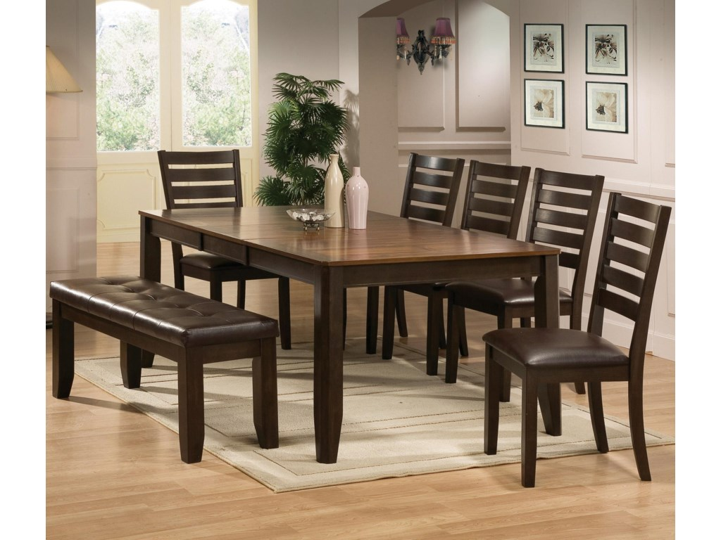 Shown with Coordinating Bench and Dining Side Chairs.