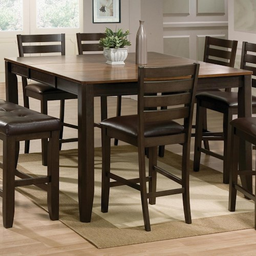 Crown Mark Elliott Counter Height Table with 18