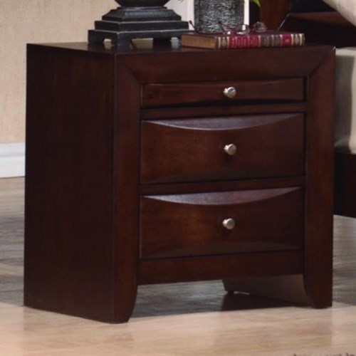 Crown Mark Emily Contemporary Drawer Night Stand