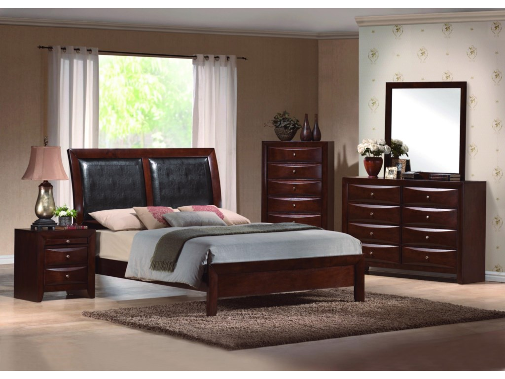 Shown with Night Stand, Platform Bed and Dresser with Mirror