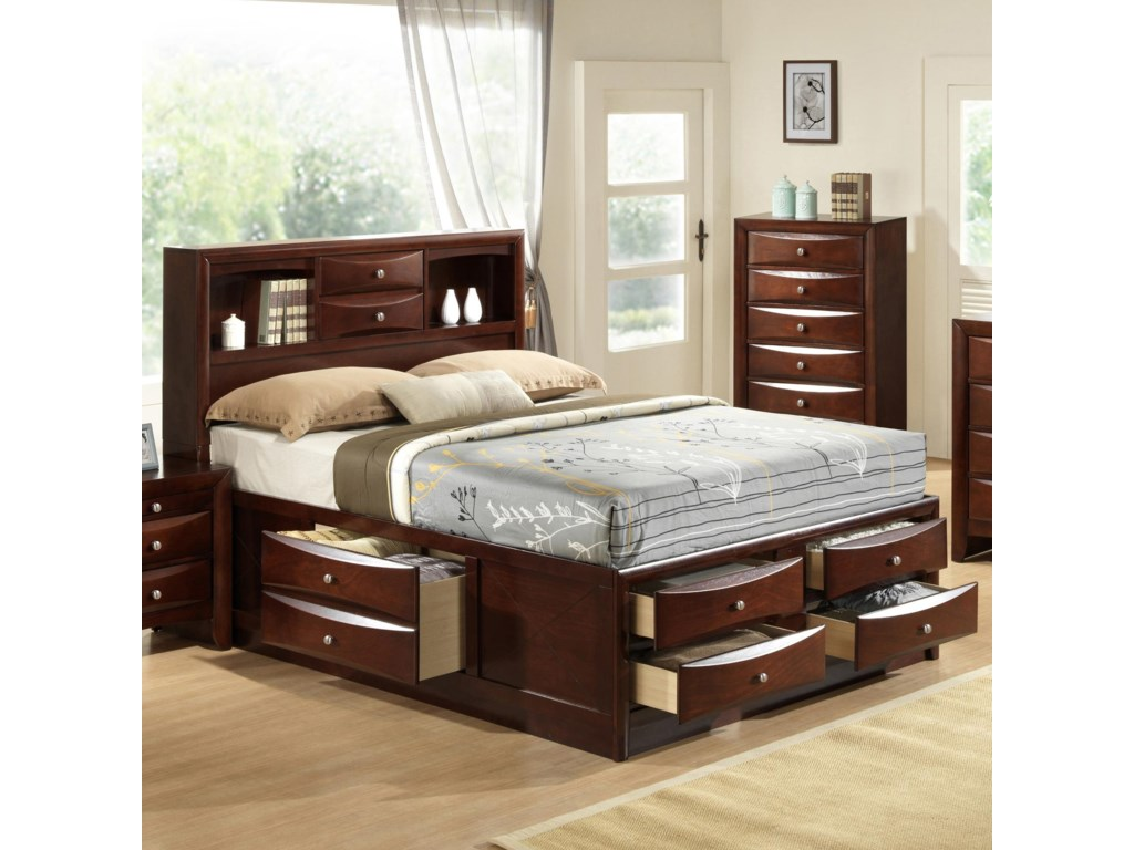king captains bed bedroom captain beds queen queen captains bed  - crown mark emily king captain's bed with bookcase headboard old