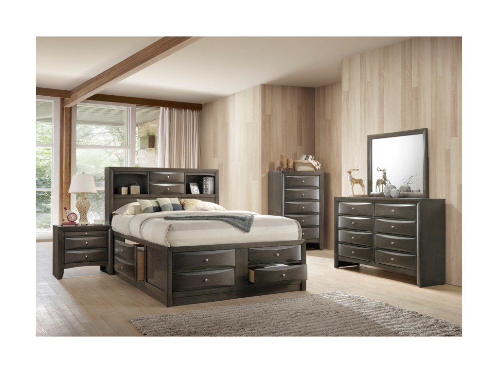 Crown Mark Emily Queen Bedroom Group | Dunk & Bright Furniture ...